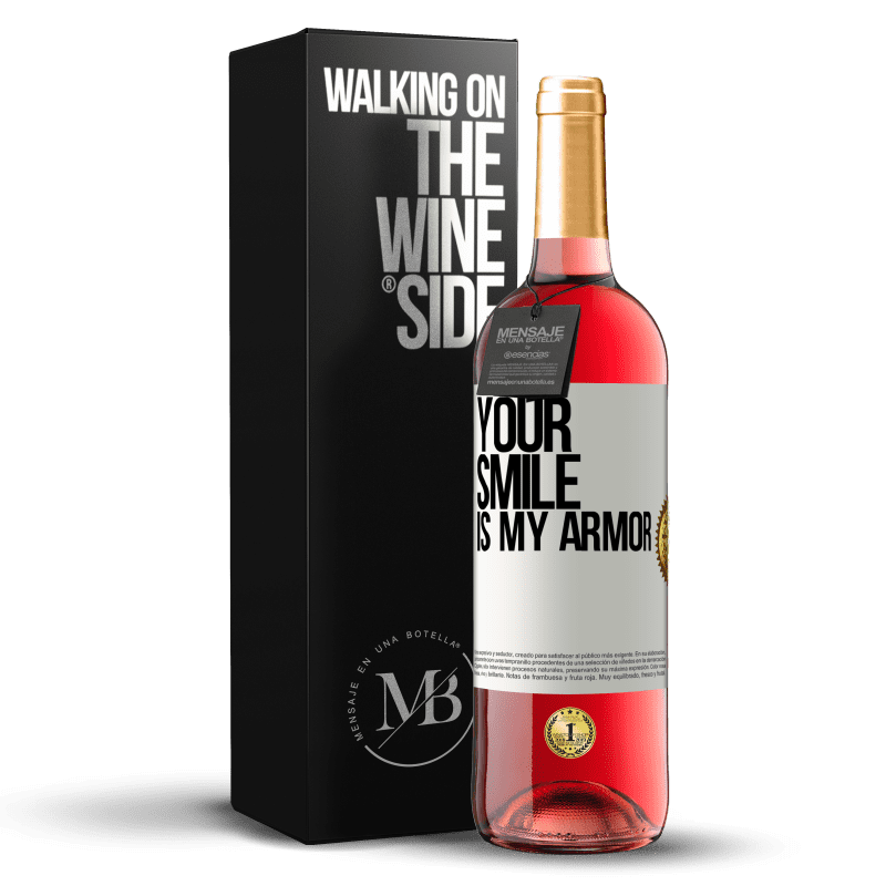 24,95 € Free Shipping | Rosé Wine ROSÉ Edition Your smile is my armor White Label. Customizable label Young wine Harvest 2020 Tempranillo