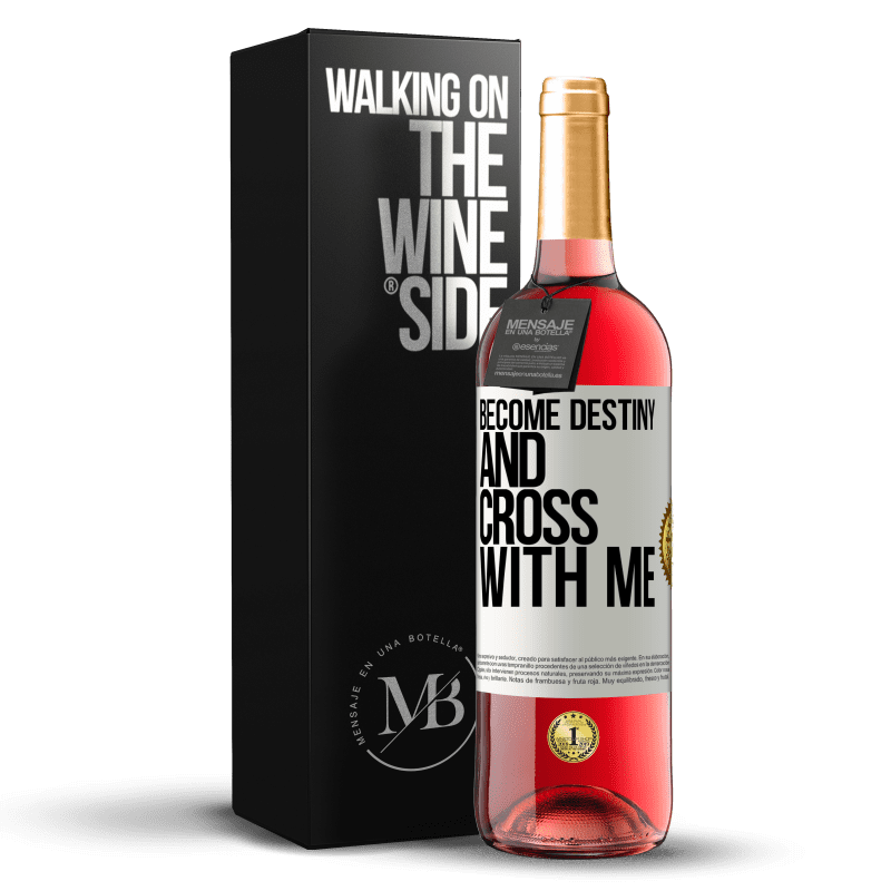 24,95 € Free Shipping | Rosé Wine ROSÉ Edition Become destiny and cross with me White Label. Customizable label Young wine Harvest 2020 Tempranillo