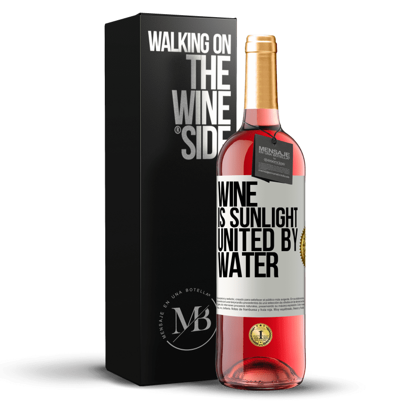 24,95 € Free Shipping | Rosé Wine ROSÉ Edition Wine is sunlight, united by water White Label. Customizable label Young wine Harvest 2020 Tempranillo