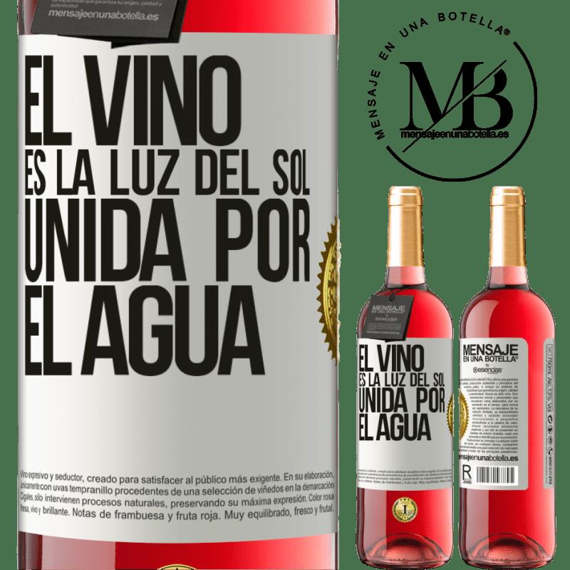 24,95 € Envoi gratuit   Vin rosé Édition ROSÉ Le vin est la lumière du soleil, unie par l'eau Étiquette Blanche. Étiquette personnalisable Vin jeune Récolte 2020 Tempranillo
