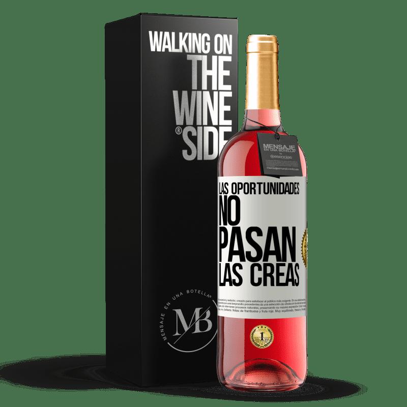 24,95 € Envoi gratuit | Vin rosé Édition ROSÉ Les opportunités ne passent pas. Vous les créez Étiquette Blanche. Étiquette personnalisable Vin jeune Récolte 2020 Tempranillo