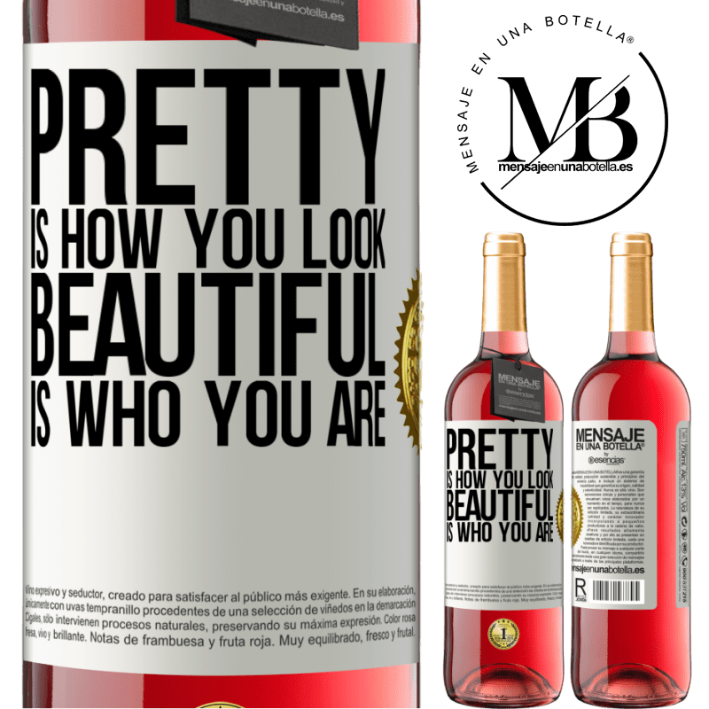 24,95 € Free Shipping   Rosé Wine ROSÉ Edition Pretty is how you look, beautiful is who you are White Label. Customizable label Young wine Harvest 2020 Tempranillo