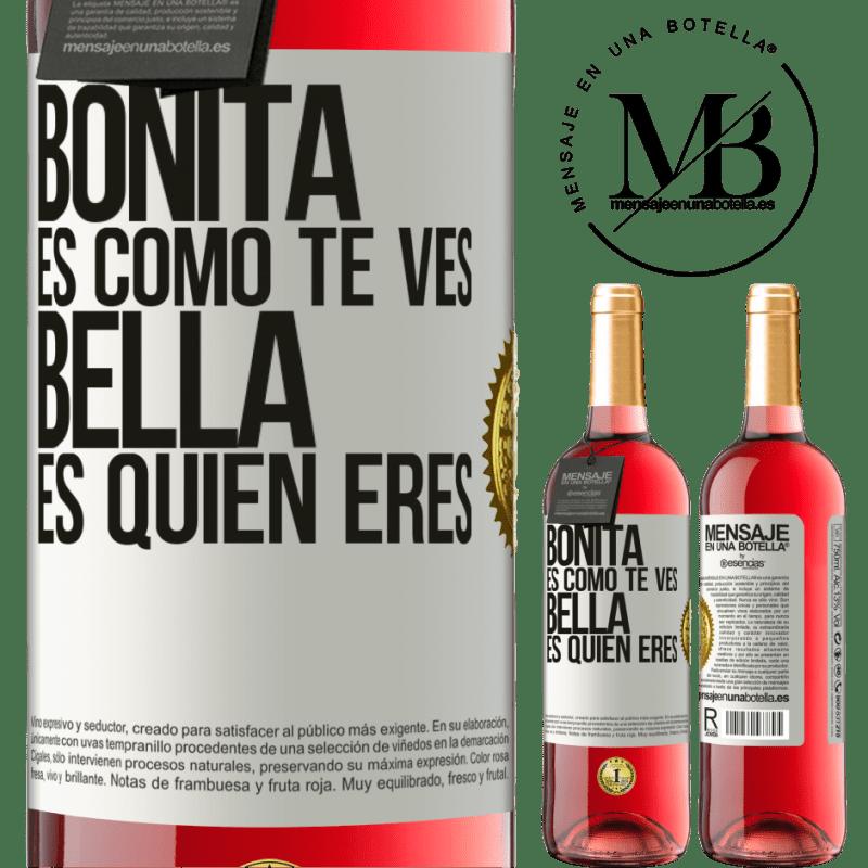 24,95 € Envoi gratuit   Vin rosé Édition ROSÉ C'est joli à quoi tu ressemble, belle est qui tu es Étiquette Blanche. Étiquette personnalisable Vin jeune Récolte 2020 Tempranillo