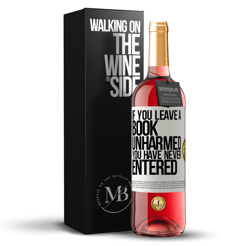24,95 € Free Shipping | Rosé Wine ROSÉ Edition If you leave a book unharmed, you have never entered White Label. Customizable label Young wine Harvest 2020 Tempranillo