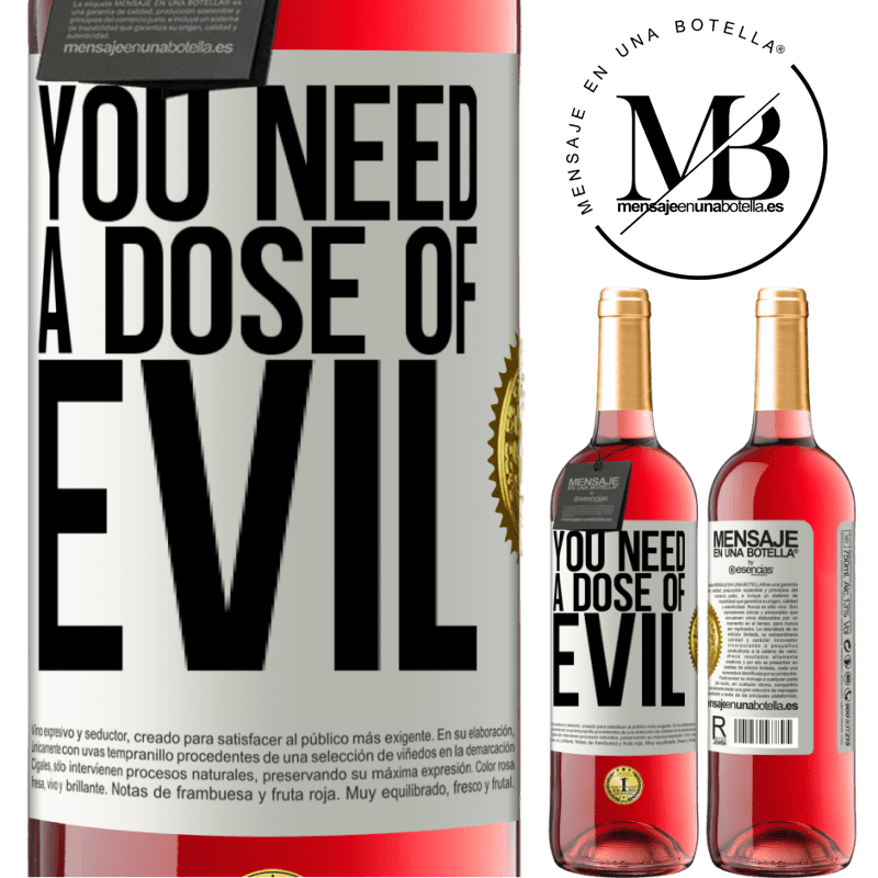 24,95 € Free Shipping | Rosé Wine ROSÉ Edition You need a dose of evil White Label. Customizable label Young wine Harvest 2020 Tempranillo