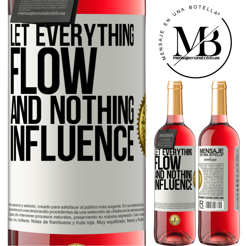 24,95 € Free Shipping | Rosé Wine ROSÉ Edition Let everything flow and nothing influence White Label. Customizable label Young wine Harvest 2020 Tempranillo