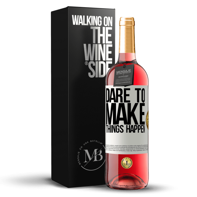 24,95 € Free Shipping | Rosé Wine ROSÉ Edition Dare to make things happen White Label. Customizable label Young wine Harvest 2020 Tempranillo