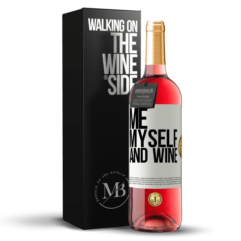 24,95 € Free Shipping | Rosé Wine ROSÉ Edition Me, myself and wine White Label. Customizable label Young wine Harvest 2020 Tempranillo