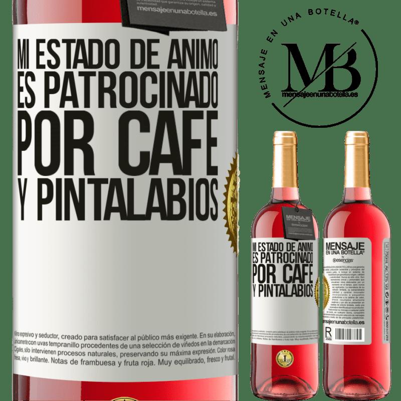 24,95 € Envoi gratuit   Vin rosé Édition ROSÉ Mon humeur est parrainée par le café et le rouge à lèvres Étiquette Blanche. Étiquette personnalisable Vin jeune Récolte 2020 Tempranillo