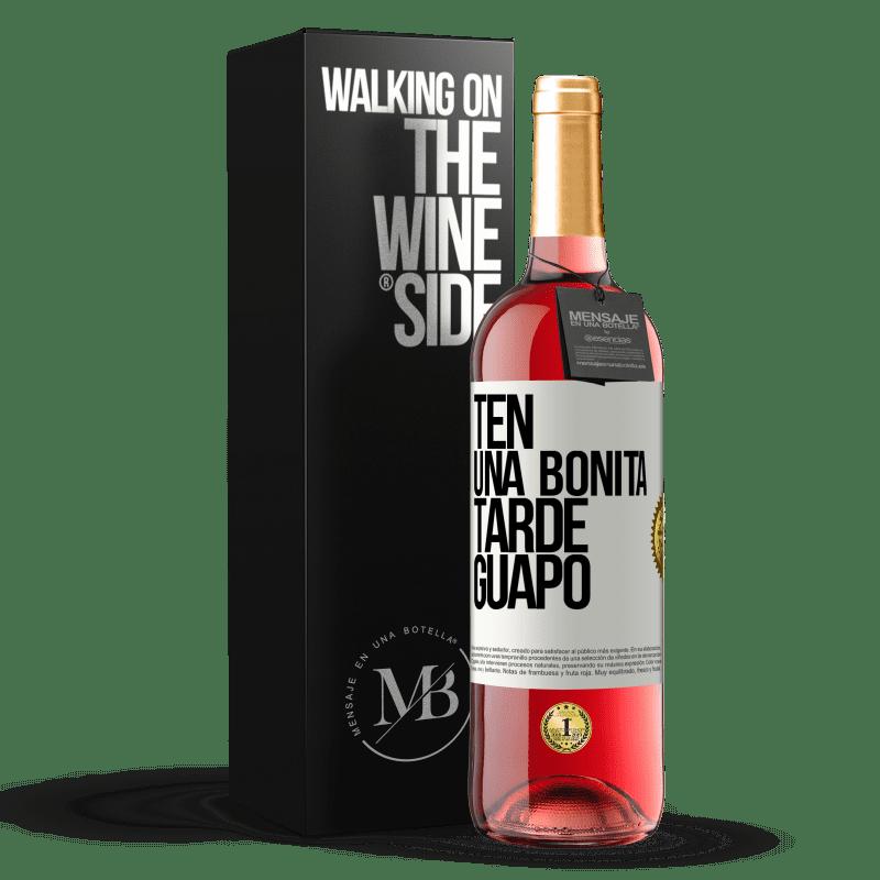 24,95 € Envoi gratuit   Vin rosé Édition ROSÉ Passez un bon après-midi, beau Étiquette Blanche. Étiquette personnalisable Vin jeune Récolte 2020 Tempranillo