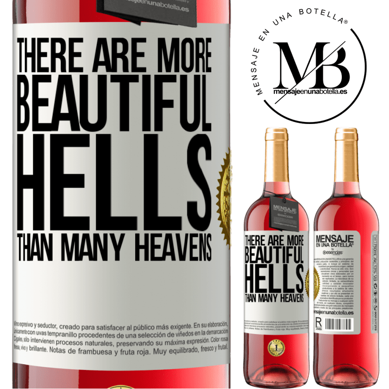 24,95 € Free Shipping | Rosé Wine ROSÉ Edition There are more beautiful hells than many heavens White Label. Customizable label Young wine Harvest 2020 Tempranillo