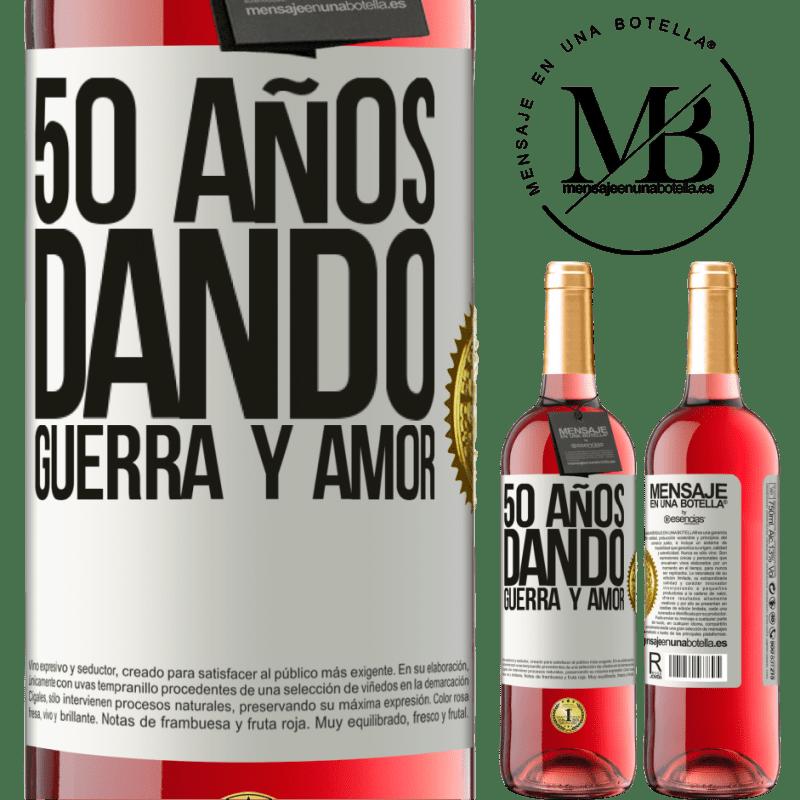 24,95 € Envoi gratuit | Vin rosé Édition ROSÉ 50 ans à donner la guerre et l'amour Étiquette Blanche. Étiquette personnalisable Vin jeune Récolte 2020 Tempranillo