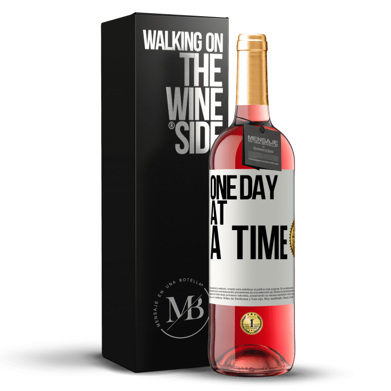 24,95 € Free Shipping | Rosé Wine ROSÉ Edition One day at a time White Label. Customizable label Young wine Harvest 2020 Tempranillo
