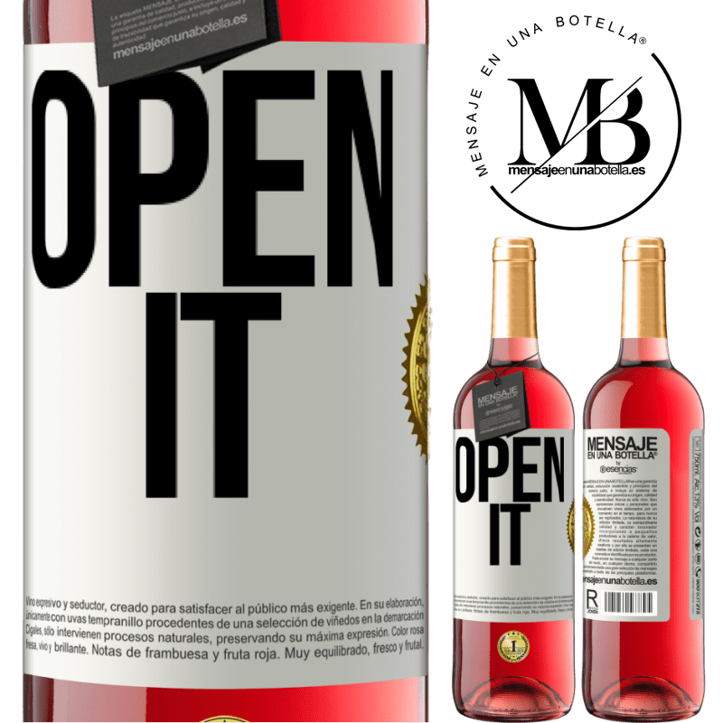 24,95 € Free Shipping | Rosé Wine ROSÉ Edition Open it White Label. Customizable label Young wine Harvest 2020 Tempranillo