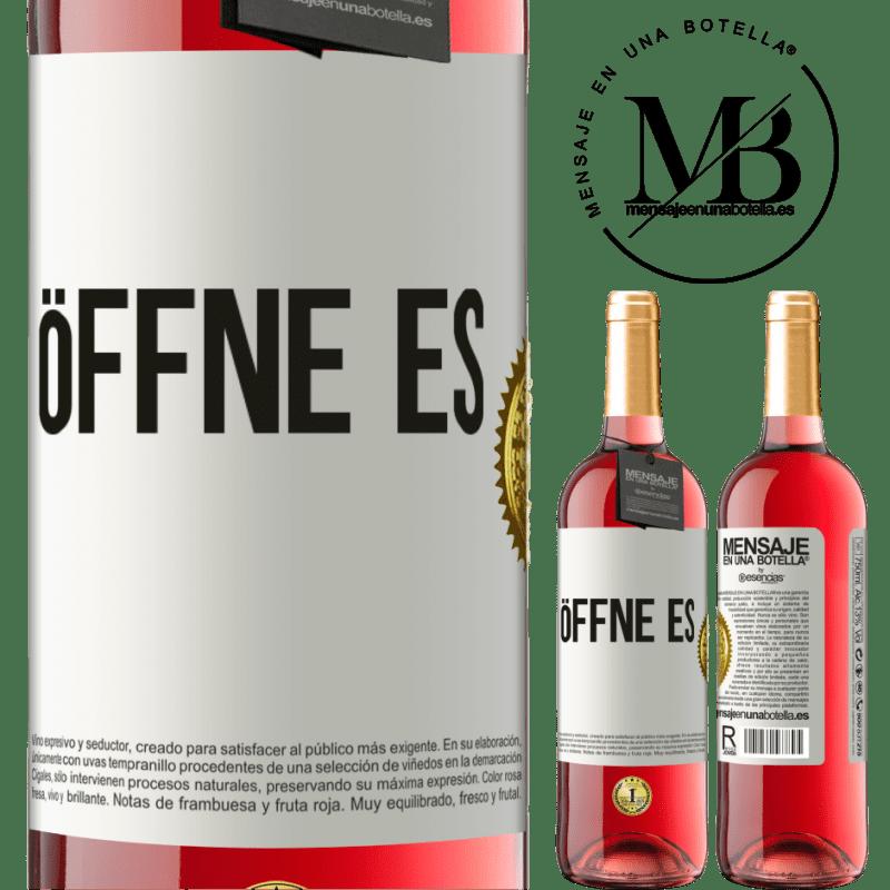 24,95 € Kostenloser Versand | Roséwein ROSÉ Ausgabe Öffne es Weißes Etikett. Anpassbares Etikett Junger Wein Ernte 2020 Tempranillo