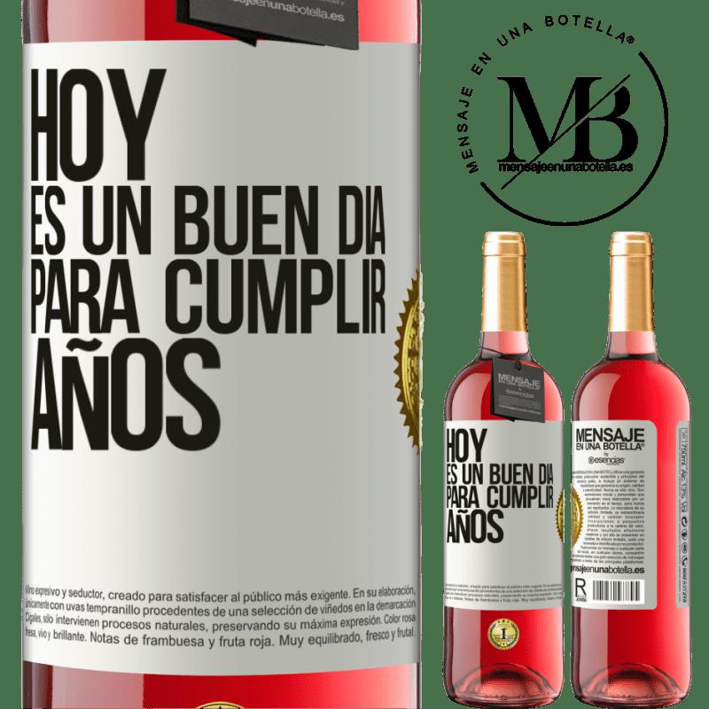 24,95 € Envoi gratuit | Vin rosé Édition ROSÉ Aujourd'hui est une bonne journée pour célébrer les années Étiquette Blanche. Étiquette personnalisable Vin jeune Récolte 2020 Tempranillo