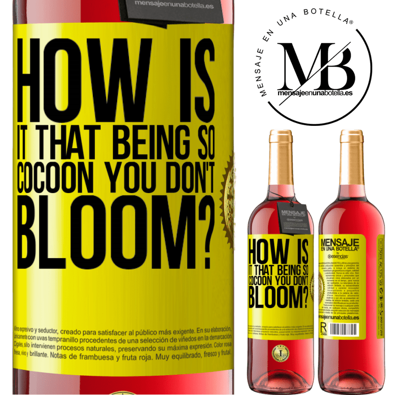 24,95 € Free Shipping   Rosé Wine ROSÉ Edition how is it that being so cocoon you don't bloom? Yellow Label. Customizable label Young wine Harvest 2020 Tempranillo