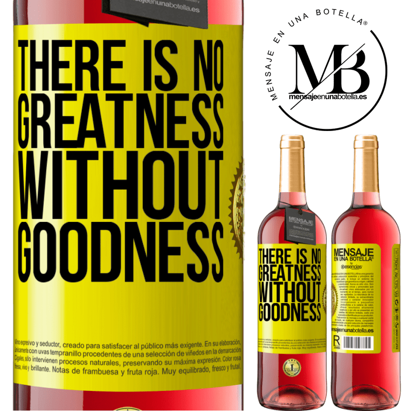 24,95 € Free Shipping | Rosé Wine ROSÉ Edition There is no greatness without goodness Yellow Label. Customizable label Young wine Harvest 2020 Tempranillo