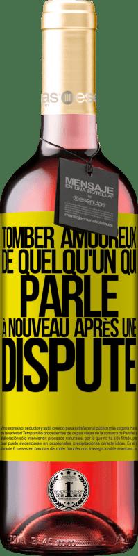 24,95 € Envoi gratuit   Vin rosé Édition ROSÉ Tomber amoureux de quelqu'un qui parle à nouveau après une dispute Étiquette Jaune. Étiquette personnalisable Vin jeune Récolte 2020 Tempranillo