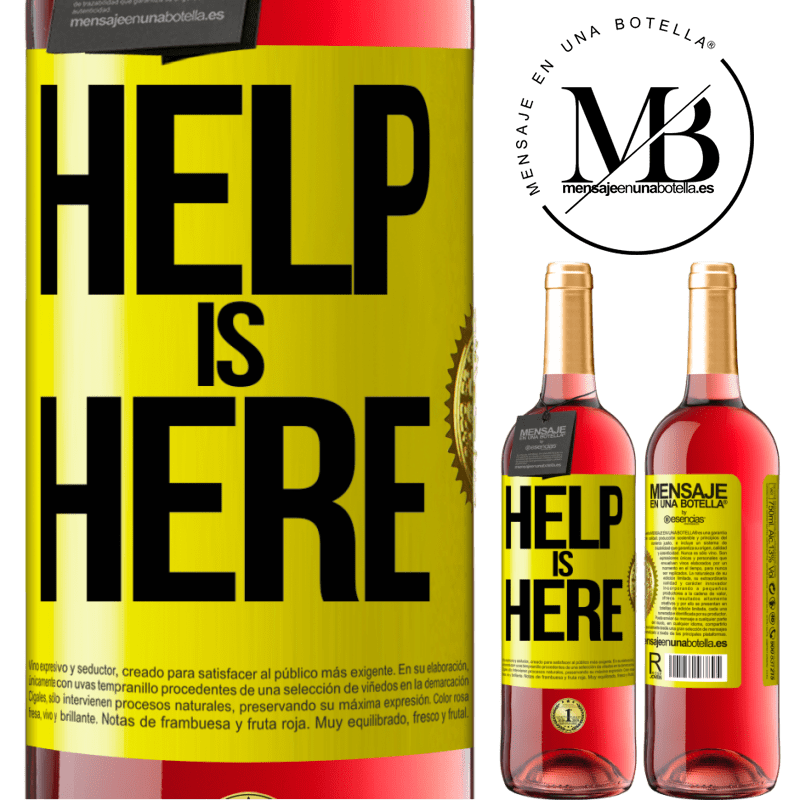 24,95 € Free Shipping | Rosé Wine ROSÉ Edition Help is Here Yellow Label. Customizable label Young wine Harvest 2020 Tempranillo