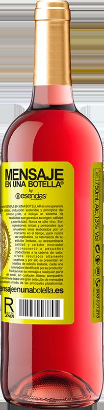 «Cette bouteille contient un grand vin et des millions de MERCI!» Édition ROSÉ