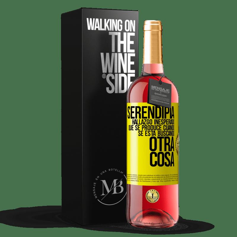 24,95 € Envoi gratuit   Vin rosé Édition ROSÉ Serendipity Découverte inattendue qui se produit lorsque vous recherchez autre chose Étiquette Jaune. Étiquette personnalisable Vin jeune Récolte 2020 Tempranillo