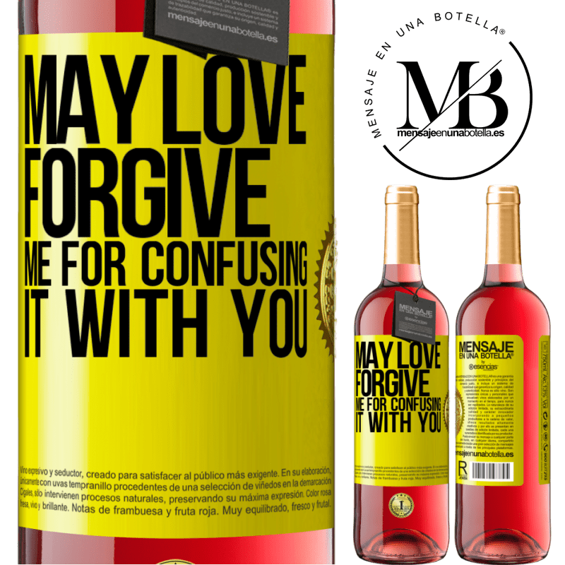 24,95 € Free Shipping | Rosé Wine ROSÉ Edition May love forgive me for confusing it with you Yellow Label. Customizable label Young wine Harvest 2020 Tempranillo