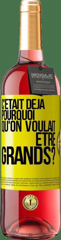 24,95 € Envoi gratuit | Vin rosé Édition ROSÉ pourquoi voulions-nous être formidables? Étiquette Jaune. Étiquette personnalisable Vin jeune Récolte 2020 Tempranillo