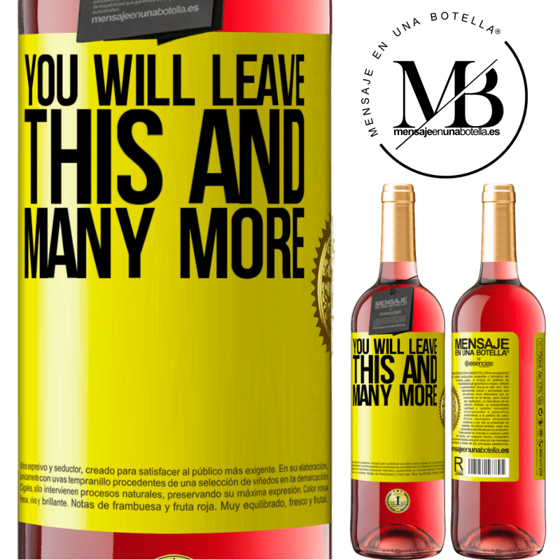 24,95 € Free Shipping   Rosé Wine ROSÉ Edition You will leave this and many more Yellow Label. Customizable label Young wine Harvest 2020 Tempranillo