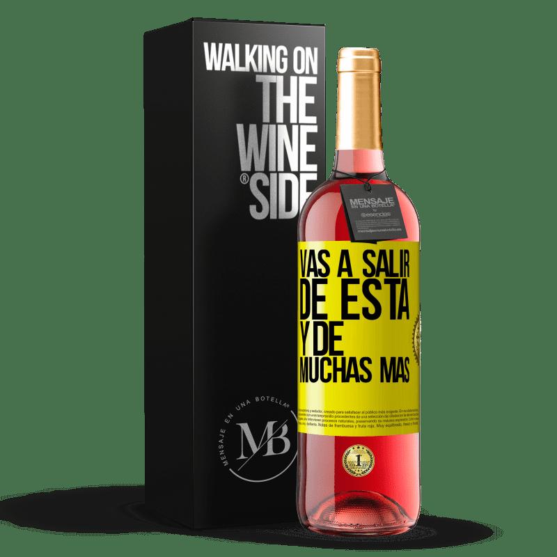 24,95 € Envoi gratuit | Vin rosé Édition ROSÉ Vous quitterez cela et bien d'autres Étiquette Jaune. Étiquette personnalisable Vin jeune Récolte 2020 Tempranillo