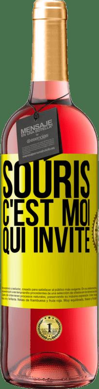 24,95 € Envoi gratuit   Vin rosé Édition ROSÉ Souris, j'invite Étiquette Jaune. Étiquette personnalisable Vin jeune Récolte 2020 Tempranillo