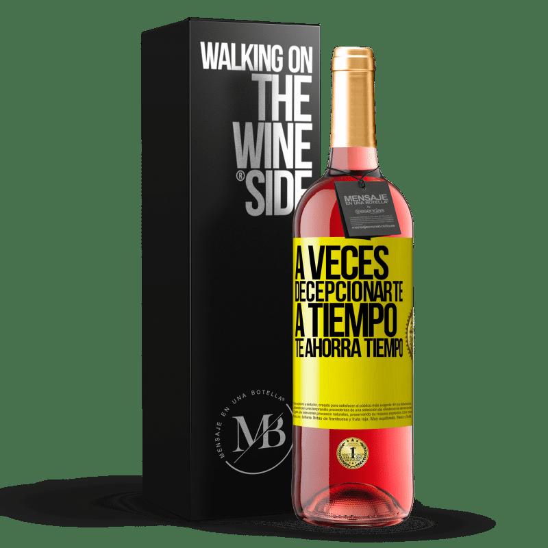 24,95 € Envoi gratuit | Vin rosé Édition ROSÉ Parfois, vous laisser gagner du temps vous fait gagner du temps Étiquette Jaune. Étiquette personnalisable Vin jeune Récolte 2020 Tempranillo