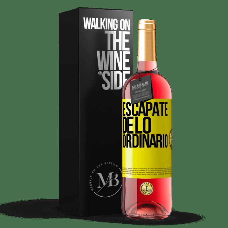 24,95 € Envoi gratuit | Vin rosé Édition ROSÉ Échapper à l'ordinaire Étiquette Jaune. Étiquette personnalisable Vin jeune Récolte 2020 Tempranillo