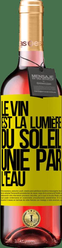 24,95 € Envoi gratuit   Vin rosé Édition ROSÉ Le vin est la lumière du soleil, unie par l'eau Étiquette Jaune. Étiquette personnalisable Vin jeune Récolte 2020 Tempranillo