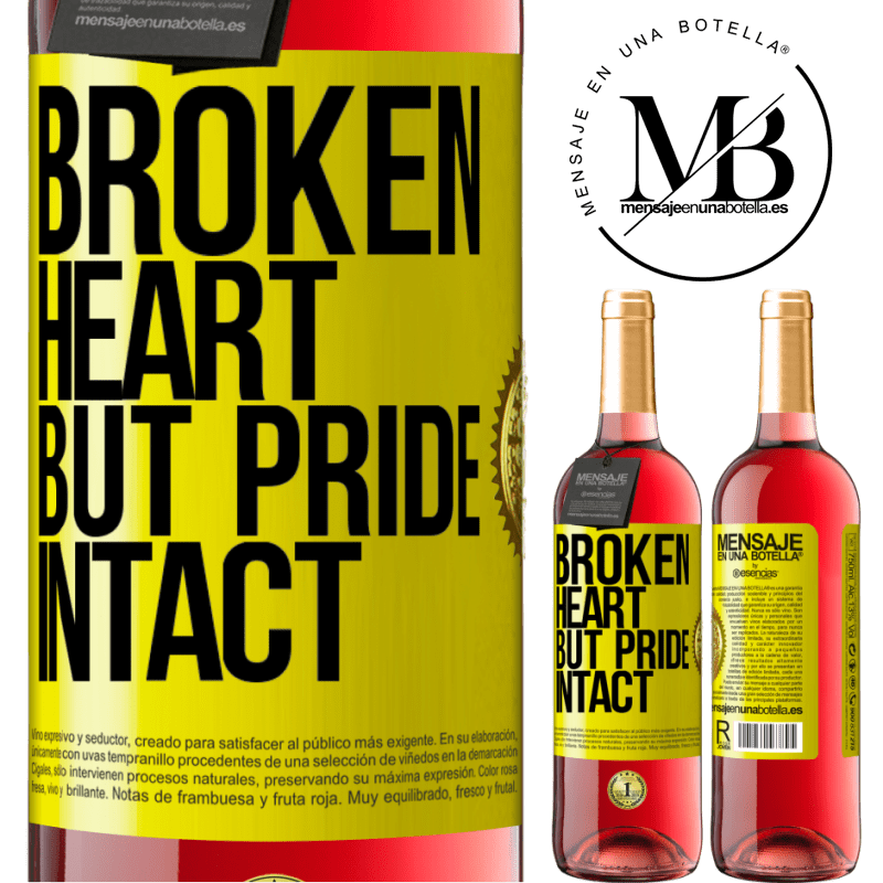 24,95 € Free Shipping | Rosé Wine ROSÉ Edition The broken heart But pride intact Yellow Label. Customizable label Young wine Harvest 2020 Tempranillo
