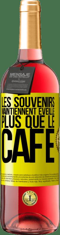 24,95 € Envoi gratuit | Vin rosé Édition ROSÉ Les souvenirs révèlent plus que du café Étiquette Jaune. Étiquette personnalisable Vin jeune Récolte 2020 Tempranillo