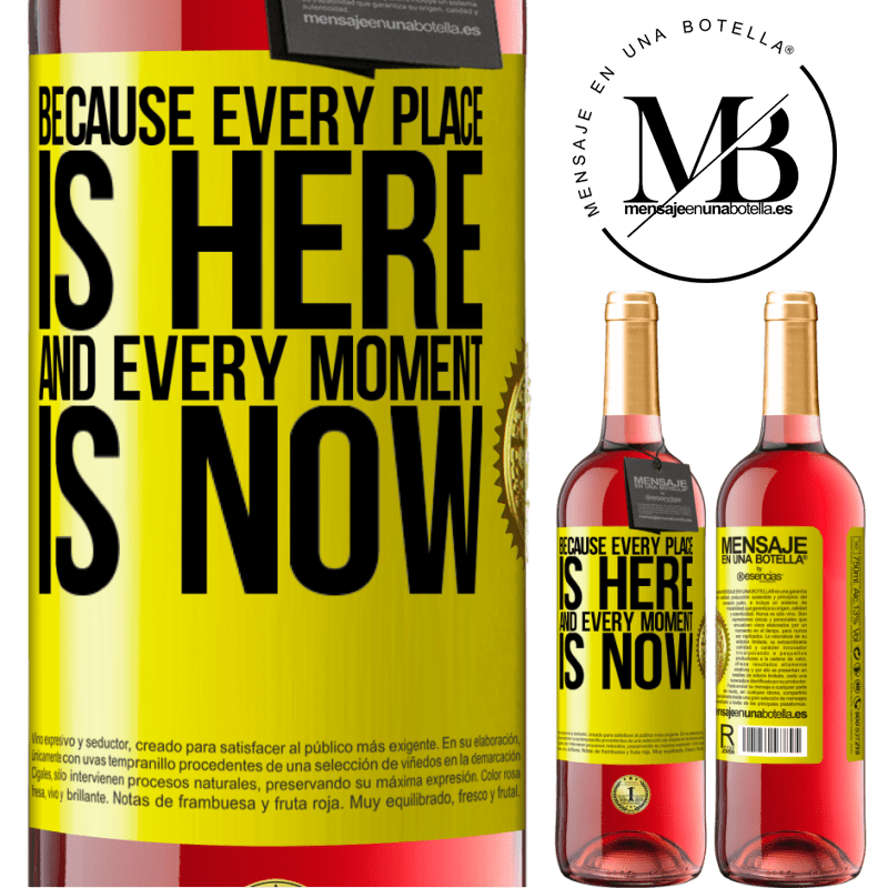 24,95 € Free Shipping   Rosé Wine ROSÉ Edition Because every place is here and every moment is now Yellow Label. Customizable label Young wine Harvest 2020 Tempranillo