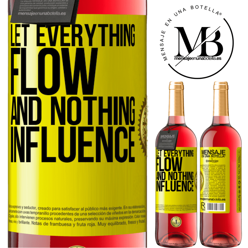 24,95 € Free Shipping | Rosé Wine ROSÉ Edition Let everything flow and nothing influence Yellow Label. Customizable label Young wine Harvest 2020 Tempranillo