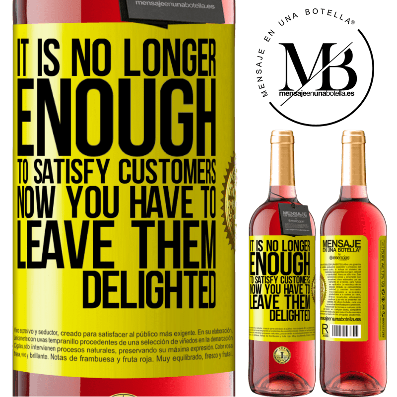 24,95 € Free Shipping | Rosé Wine ROSÉ Edition It is no longer enough to satisfy customers. Now you have to leave them delighted Yellow Label. Customizable label Young wine Harvest 2020 Tempranillo