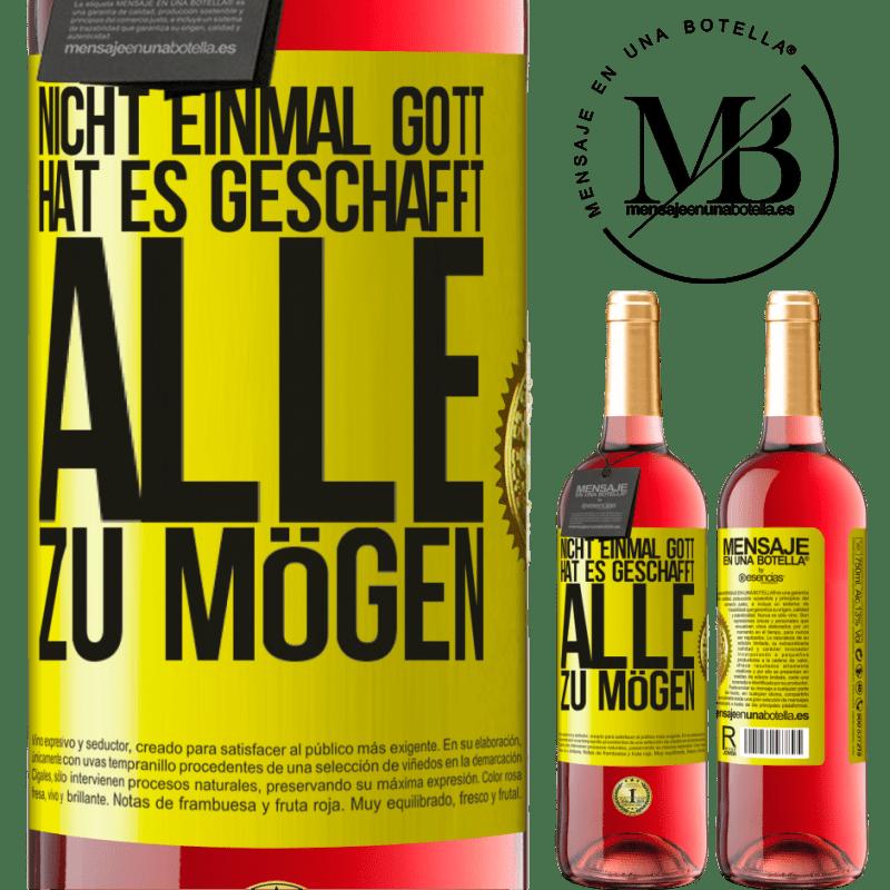 24,95 € Kostenloser Versand   Roséwein ROSÉ Ausgabe Nicht einmal Gott hat es geschafft, alle zu mögen Gelbes Etikett. Anpassbares Etikett Junger Wein Ernte 2020 Tempranillo