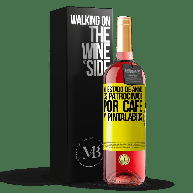 24,95 € Envoi gratuit   Vin rosé Édition ROSÉ Mon humeur est parrainée par le café et le rouge à lèvres Étiquette Jaune. Étiquette personnalisable Vin jeune Récolte 2020 Tempranillo