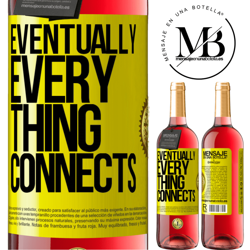24,95 € Free Shipping | Rosé Wine ROSÉ Edition Eventually, everything connects Yellow Label. Customizable label Young wine Harvest 2020 Tempranillo