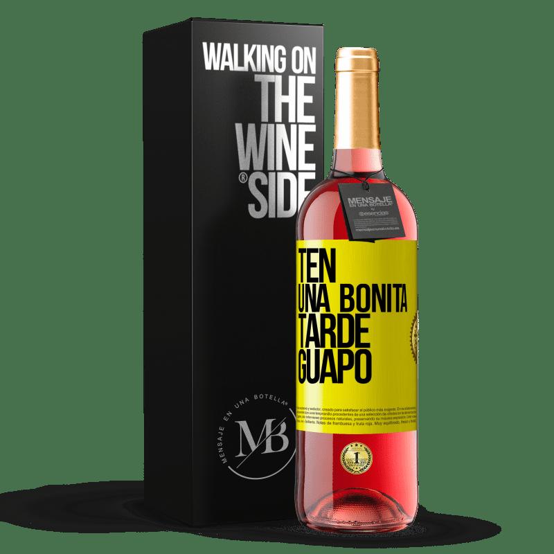 24,95 € Envoi gratuit   Vin rosé Édition ROSÉ Passez un bon après-midi, beau Étiquette Jaune. Étiquette personnalisable Vin jeune Récolte 2020 Tempranillo