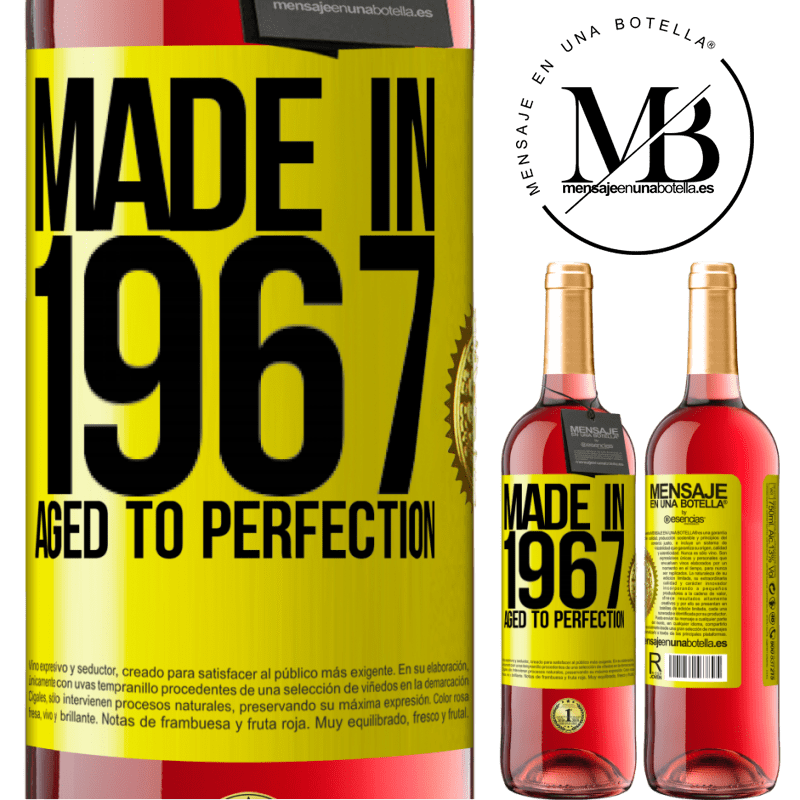 24,95 € Free Shipping | Rosé Wine ROSÉ Edition Made in 1967. Aged to perfection Yellow Label. Customizable label Young wine Harvest 2020 Tempranillo