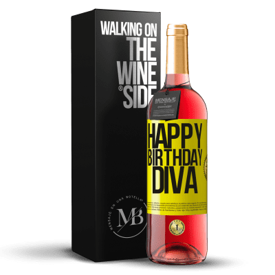 «Joyeux anniversaire Diva» Édition ROSÉ