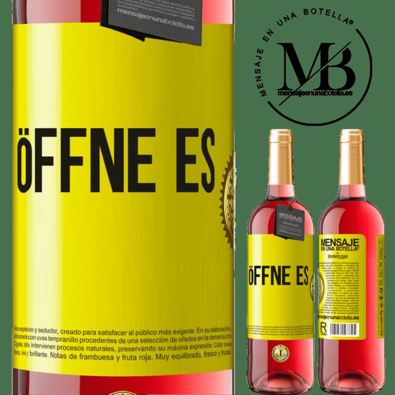 24,95 € Kostenloser Versand | Roséwein ROSÉ Ausgabe Öffne es Gelbes Etikett. Anpassbares Etikett Junger Wein Ernte 2020 Tempranillo