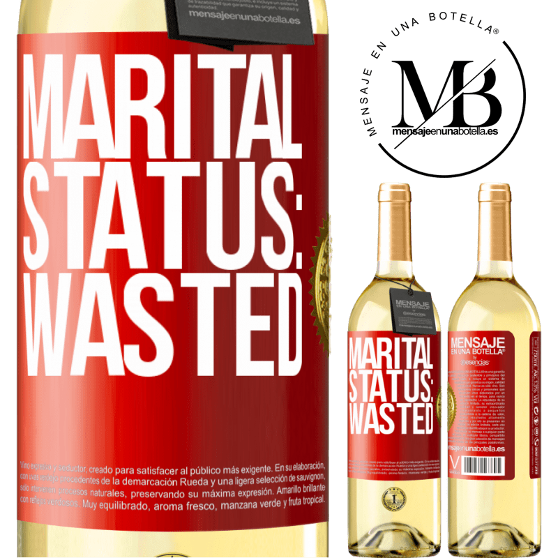 24,95 € Free Shipping   White Wine WHITE Edition Marital status: wasted Red Label. Customizable label Young wine Harvest 2020 Verdejo