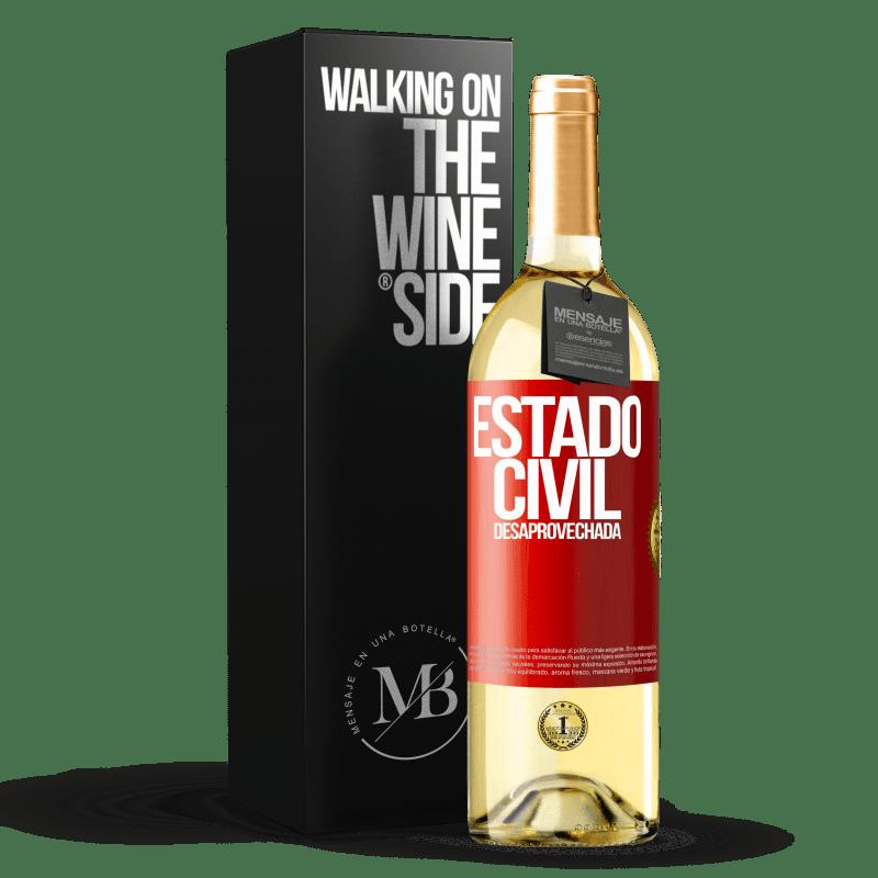 24,95 € Envoi gratuit | Vin blanc Édition WHITE État matrimonial: gaspillé Étiquette Rouge. Étiquette personnalisable Vin jeune Récolte 2020 Verdejo