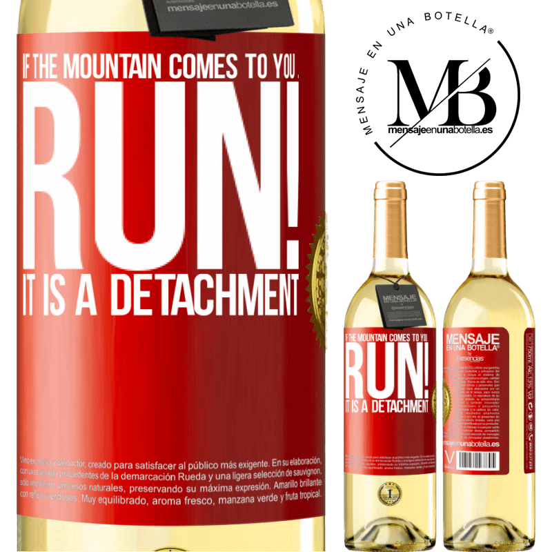 24,95 € Free Shipping   White Wine WHITE Edition If the mountain comes to you ... Run! It is a detachment Red Label. Customizable label Young wine Harvest 2020 Verdejo