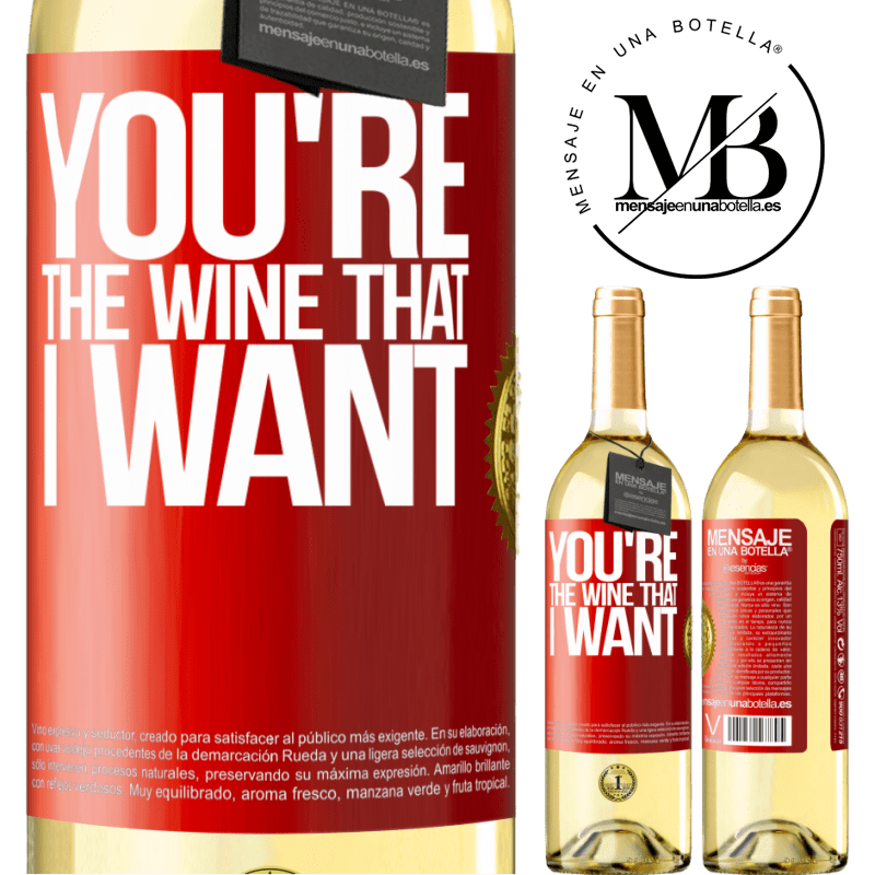 24,95 € Free Shipping | White Wine WHITE Edition You're the wine that I want Red Label. Customizable label Young wine Harvest 2020 Verdejo